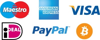 Payment methods: VISA, Mastercard, Maestro, iDeal, PayPal.